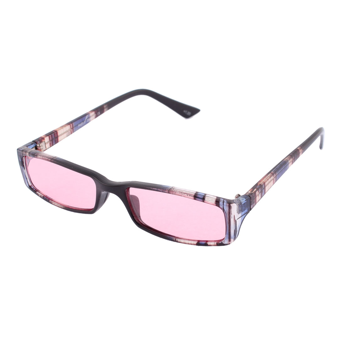Plastic Multi-color Frame Single Bridge Red Lens Eyes Protector Sunglasses