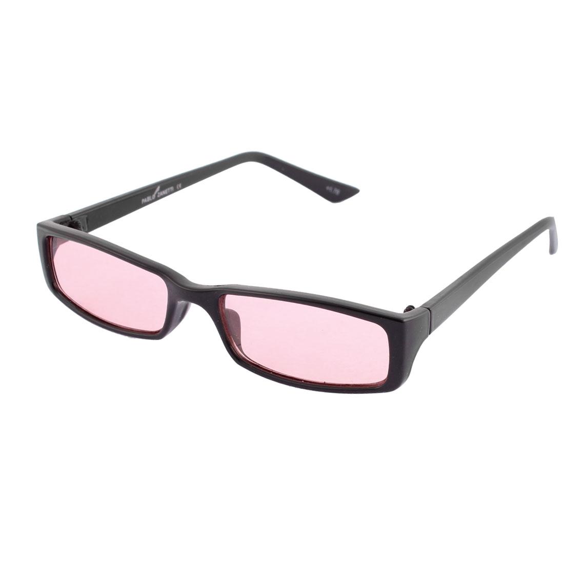 Plastic Black Full Frame Single Bridge Red Lens Eyes Protector Sunglasses