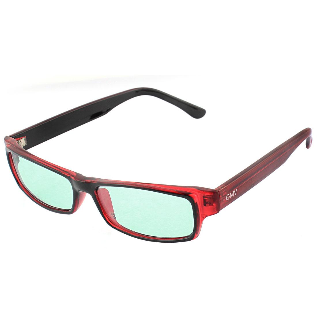 Burgundy Rectangular Style Full Frame Single Bridge Sunglasses for Women