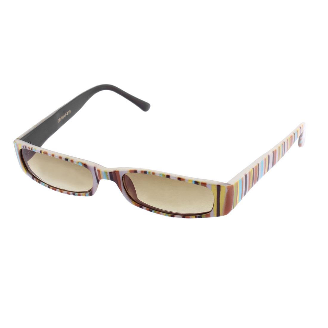 Plastic Rectangular Shape Lens Full Frame Single Bridge Sunglasses for Lady