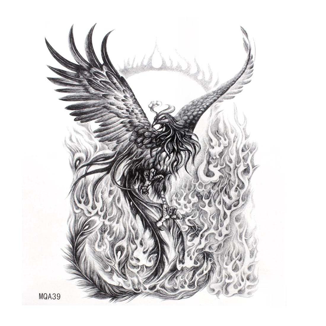 Phoenix Pattern Transfers Sticker Temporary Tattoo