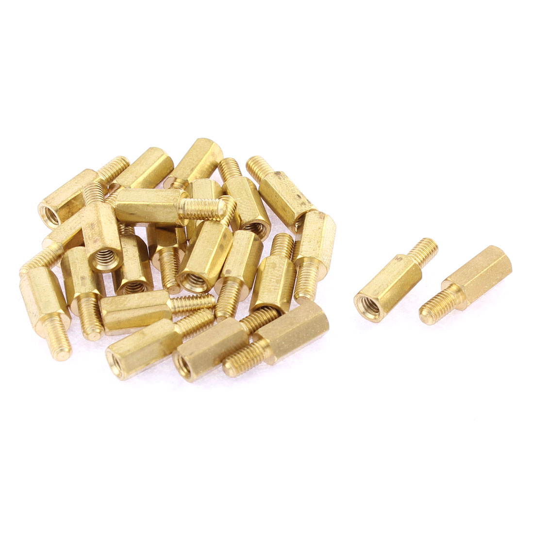 M3 Female to M3 Male Threaded Hex Standoff Spacer Coupler Nut 15mm Long 23Pcs