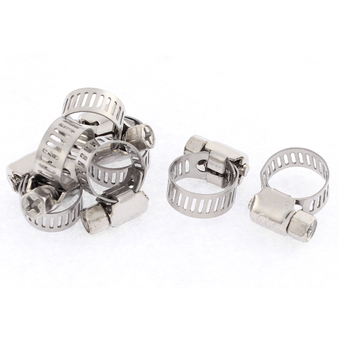Adjustable 8-12mm Tight Cable Coolant Hose Pipe Clamp 7Pcs