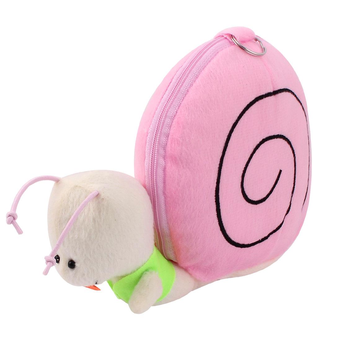 Snail Shape 12 Capacity DVD CD Discs Holder Storage Bag Album Box Pink