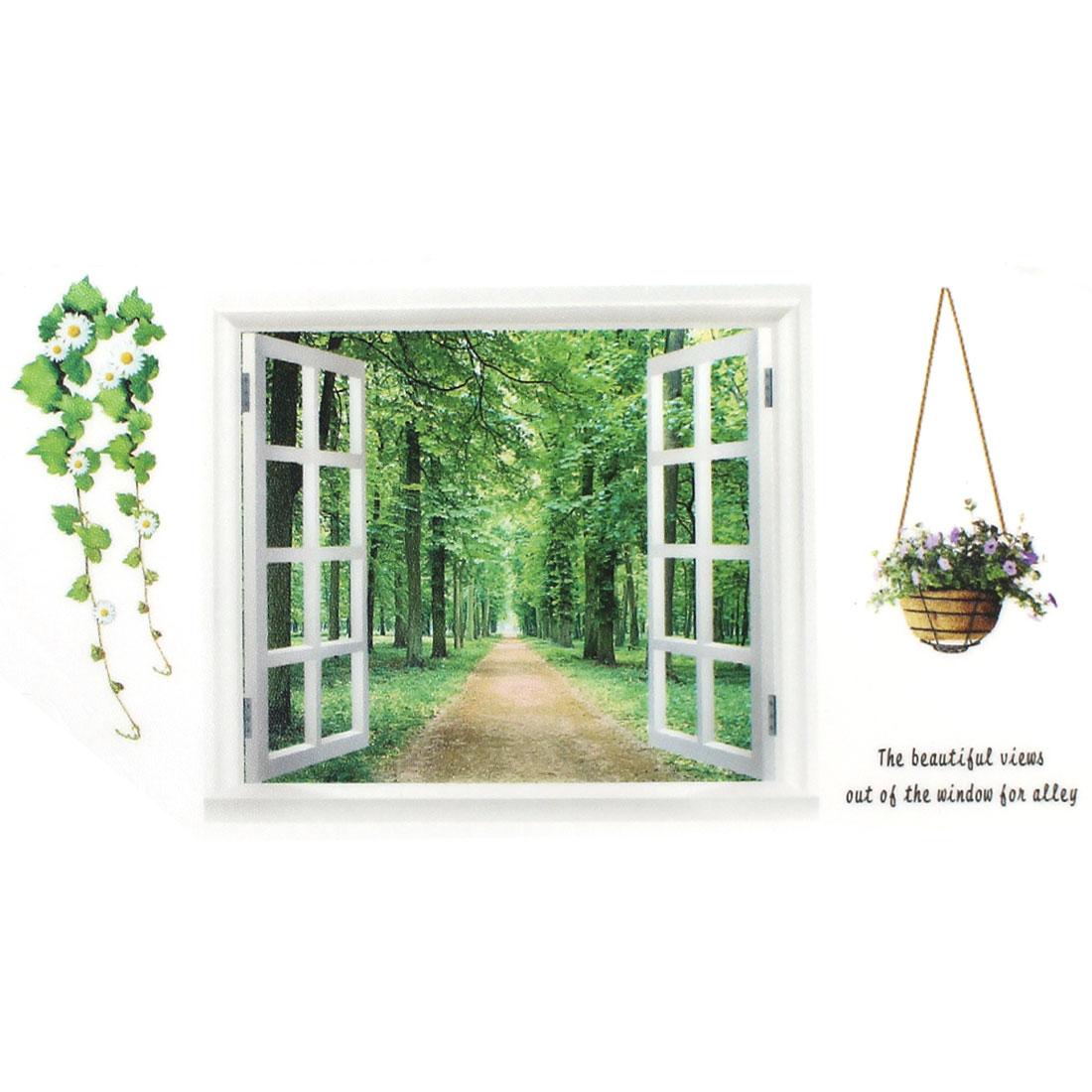 Vinyl Window Branch Trunk Wall Art Sticker Decal Home Decor Mural Green