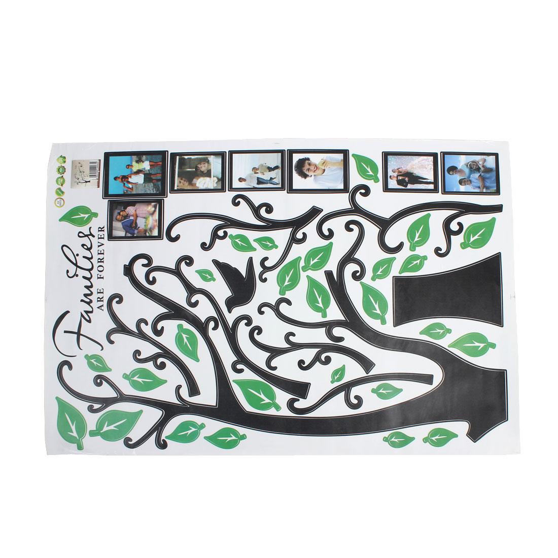 Vinyl Families Tree Branch Trunk Wall Art Sticker Decal Home Decor Mural Green