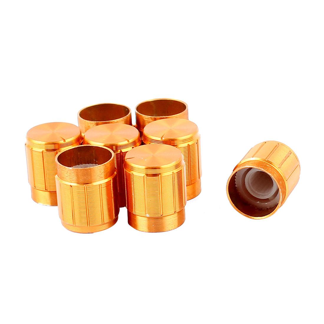 8Pcs 5.5mm Shaft 15mm Dia Adjustable Turn Potentiometer Rotary Control Knobs