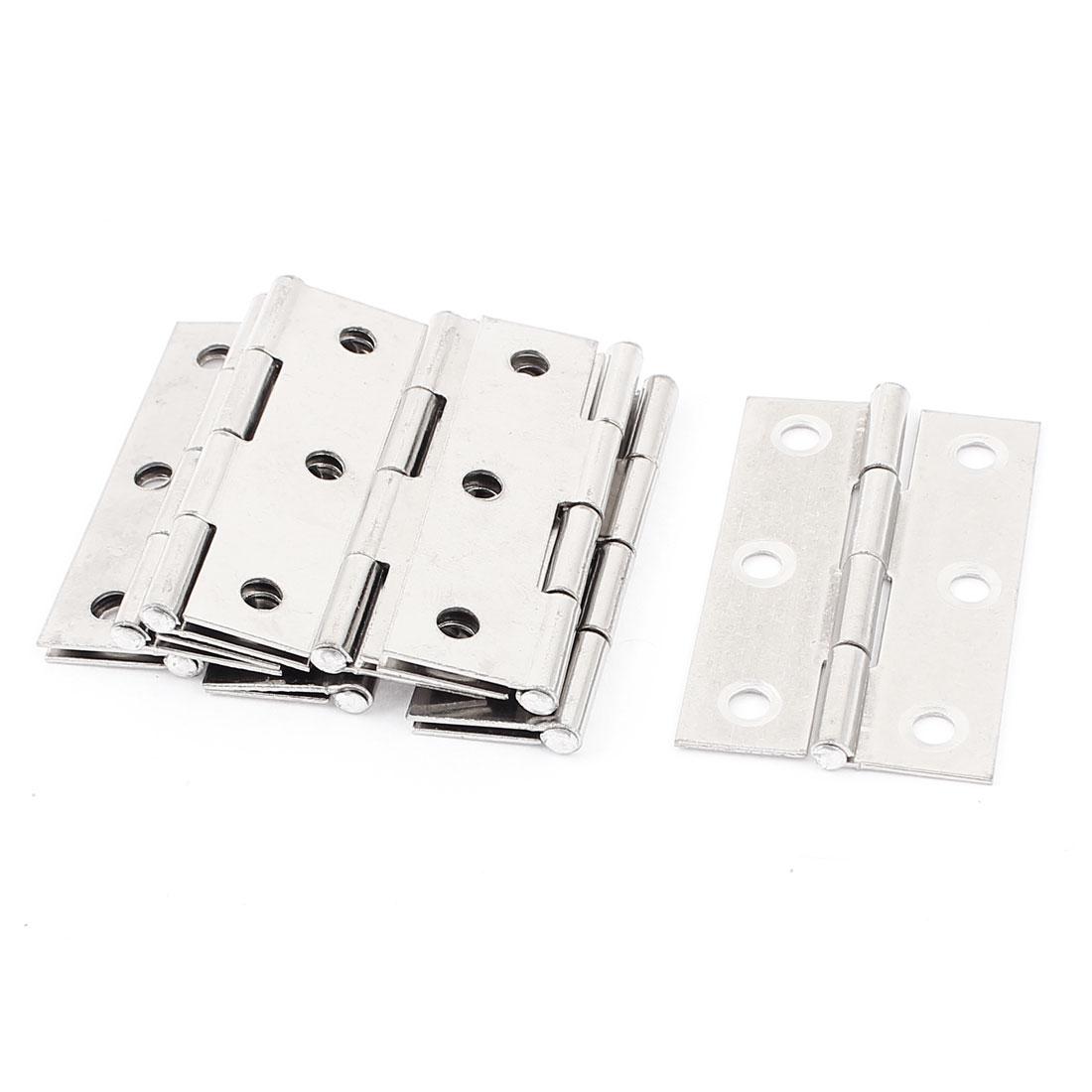 8Pcs 5.5cm x 3.3cm Metal Folding Furniture Cabinet Door Butt Hinge