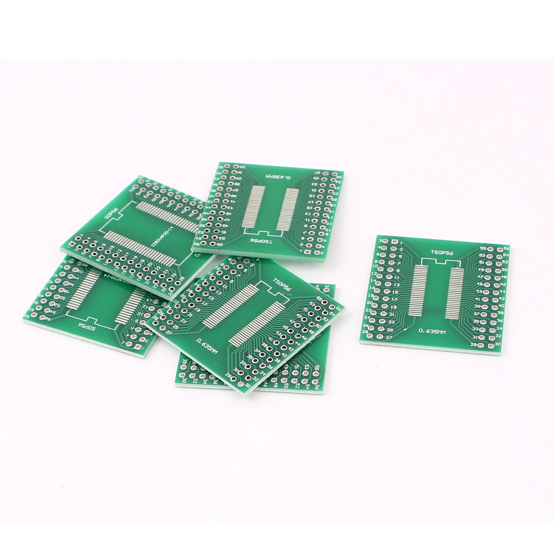 6Pcs 0.635mm 0.8mm SSOP56 TSSOP56 to 2.54mm DIP56 SMD IC PCB Adapter Socket