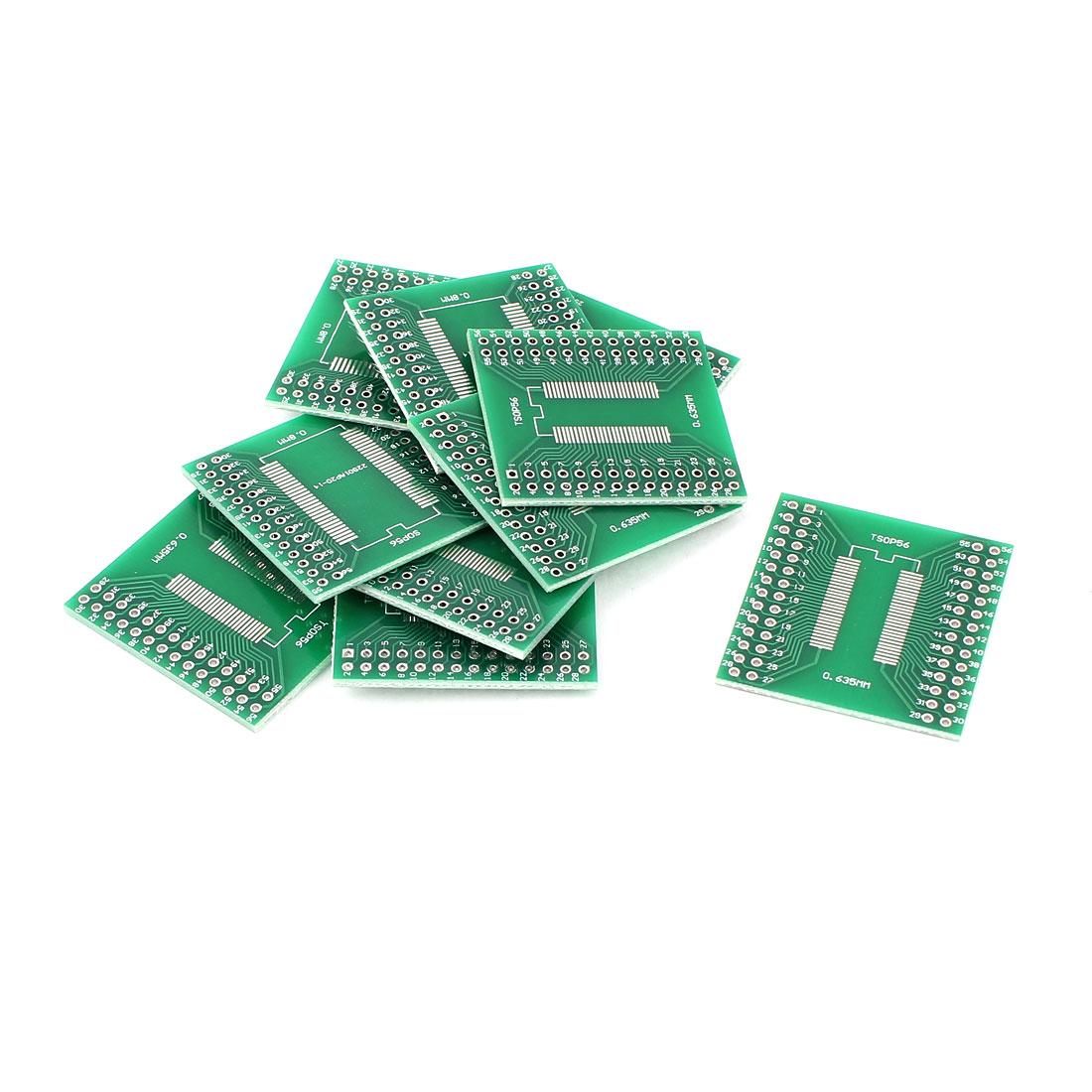 10Pcs 0.635mm 0.8mm SSOP56 TSSOP56 to 2.54mm DIP56 SMD IC PCB Adapter Socket