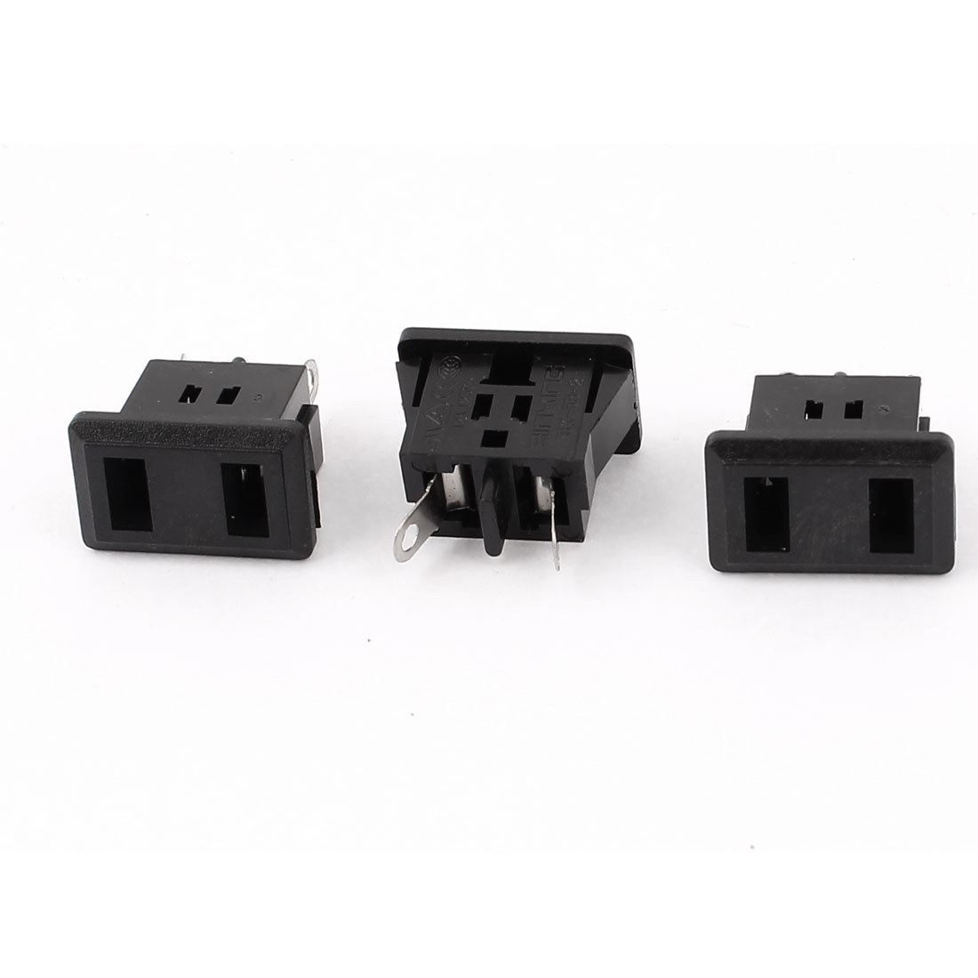 3Pcs PCB Board IEC320 C9 Female Power Socket Adapter AC 125V 12A