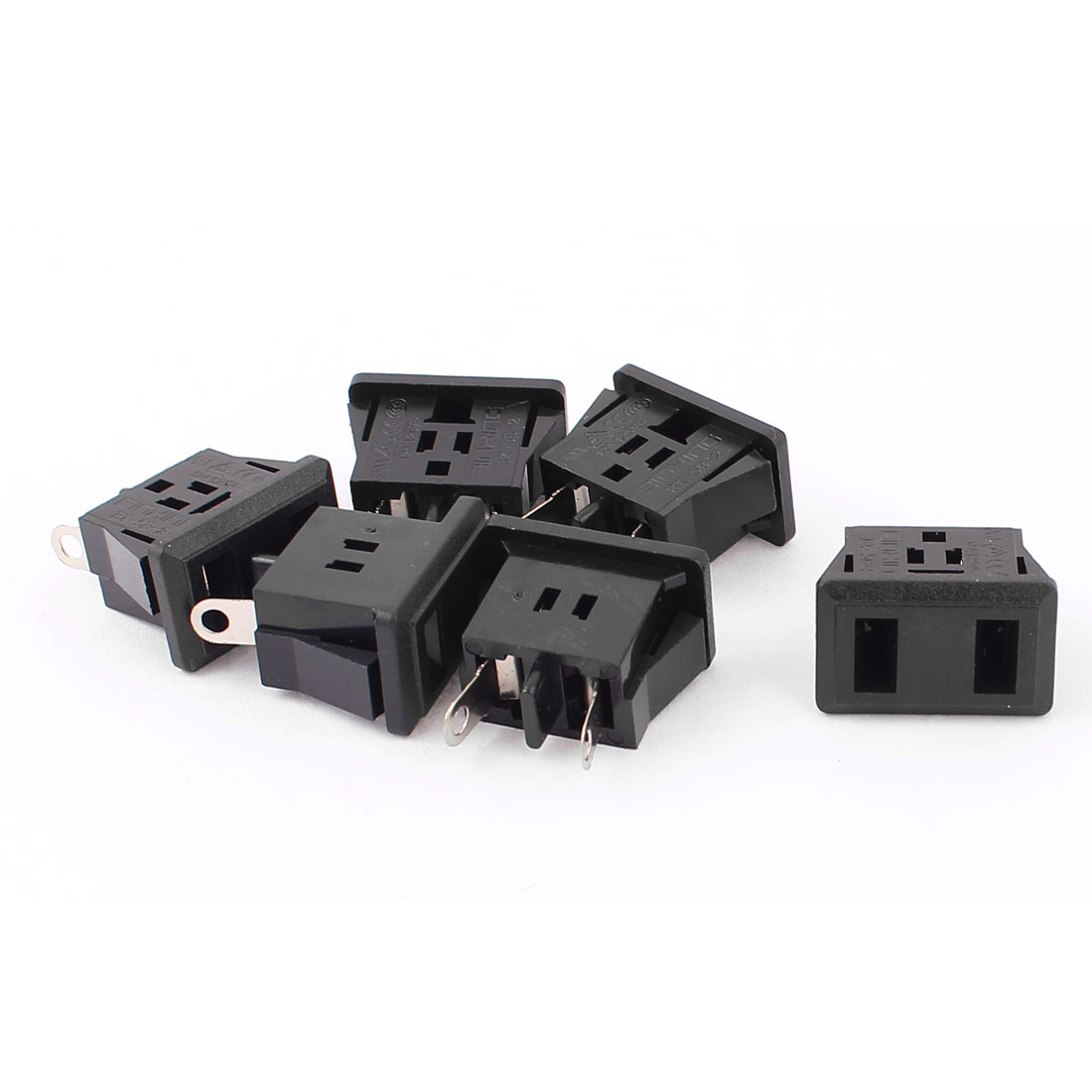6Pcs PCB Board IEC320 C9 Female Power Socket Adapter AC 125V 12A