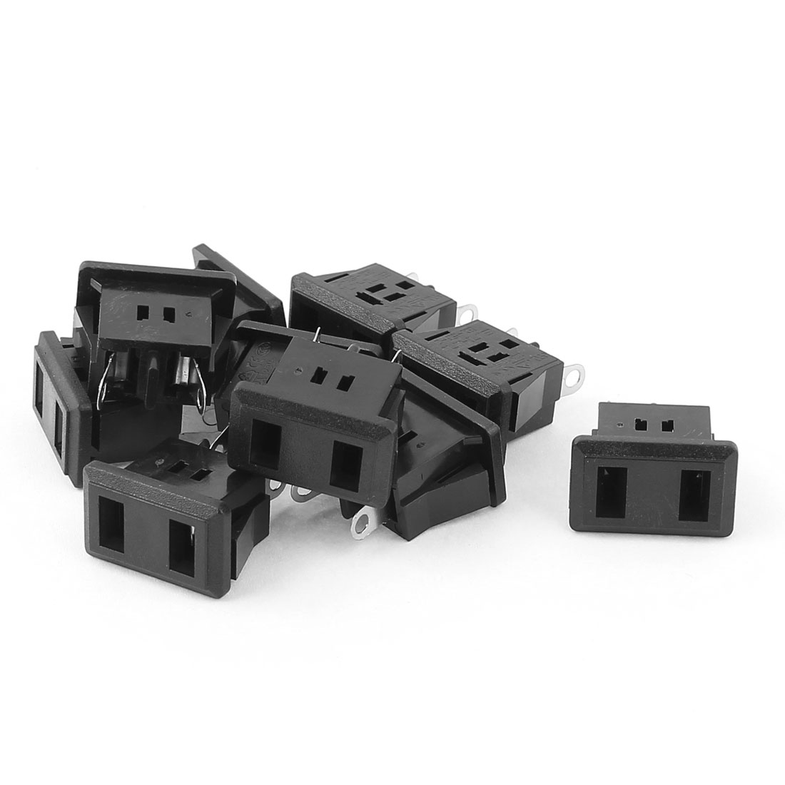 10Pcs PCB Board IEC320 C9 Female Power Socket Adapter AC 125V 12A
