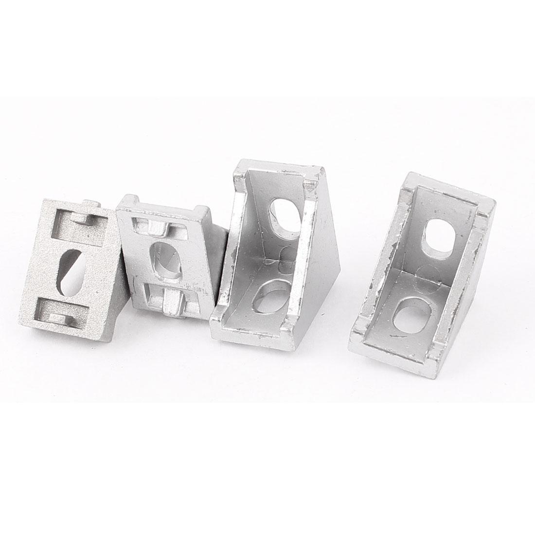Silver Tone Aluminum Alloy 28x28x20mm Corner Brace Angle Bracket Support 4PCS