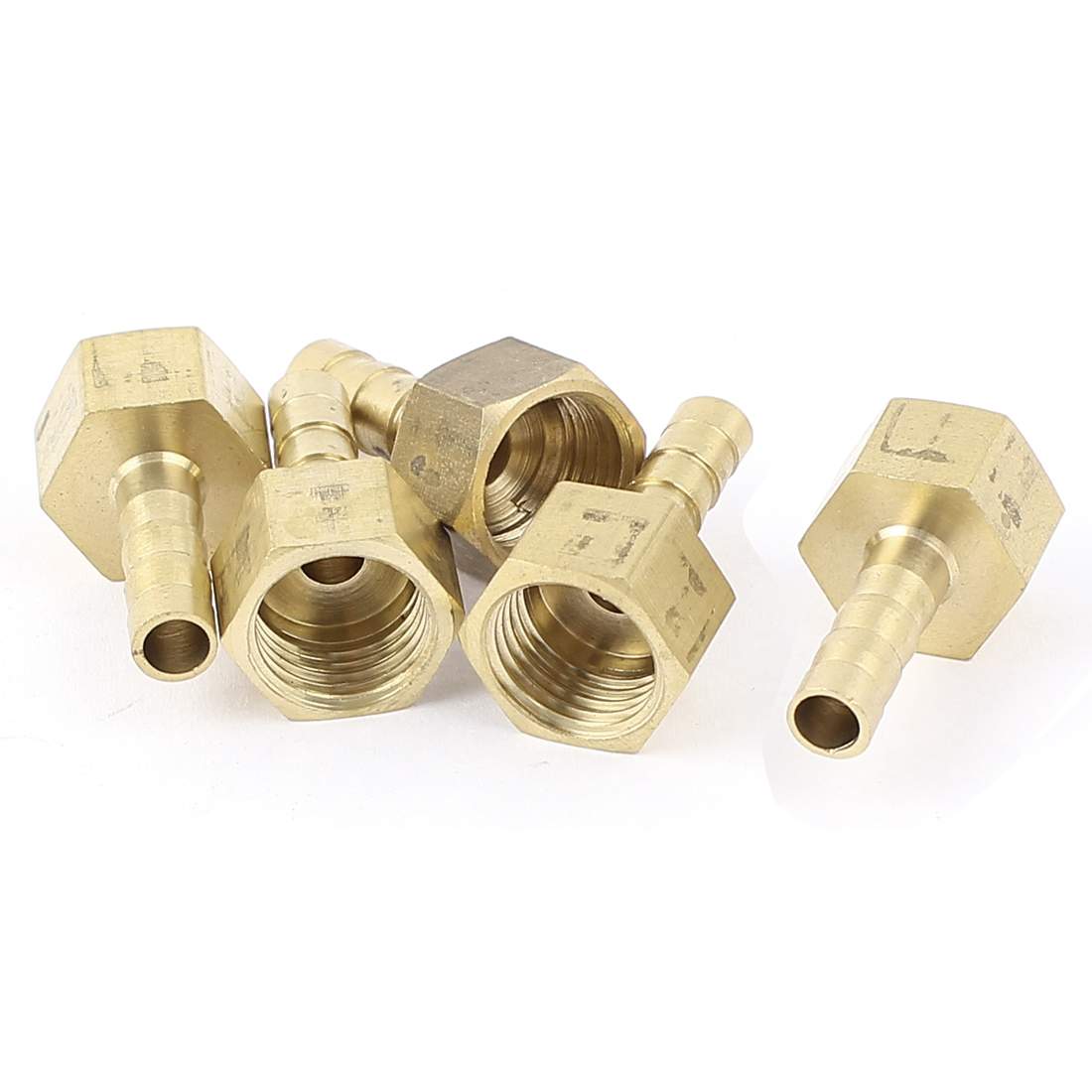 Brass 6mm Hose Barb 1/4BSP Female Thread Quick Joint Connector Adapter 5Pcs