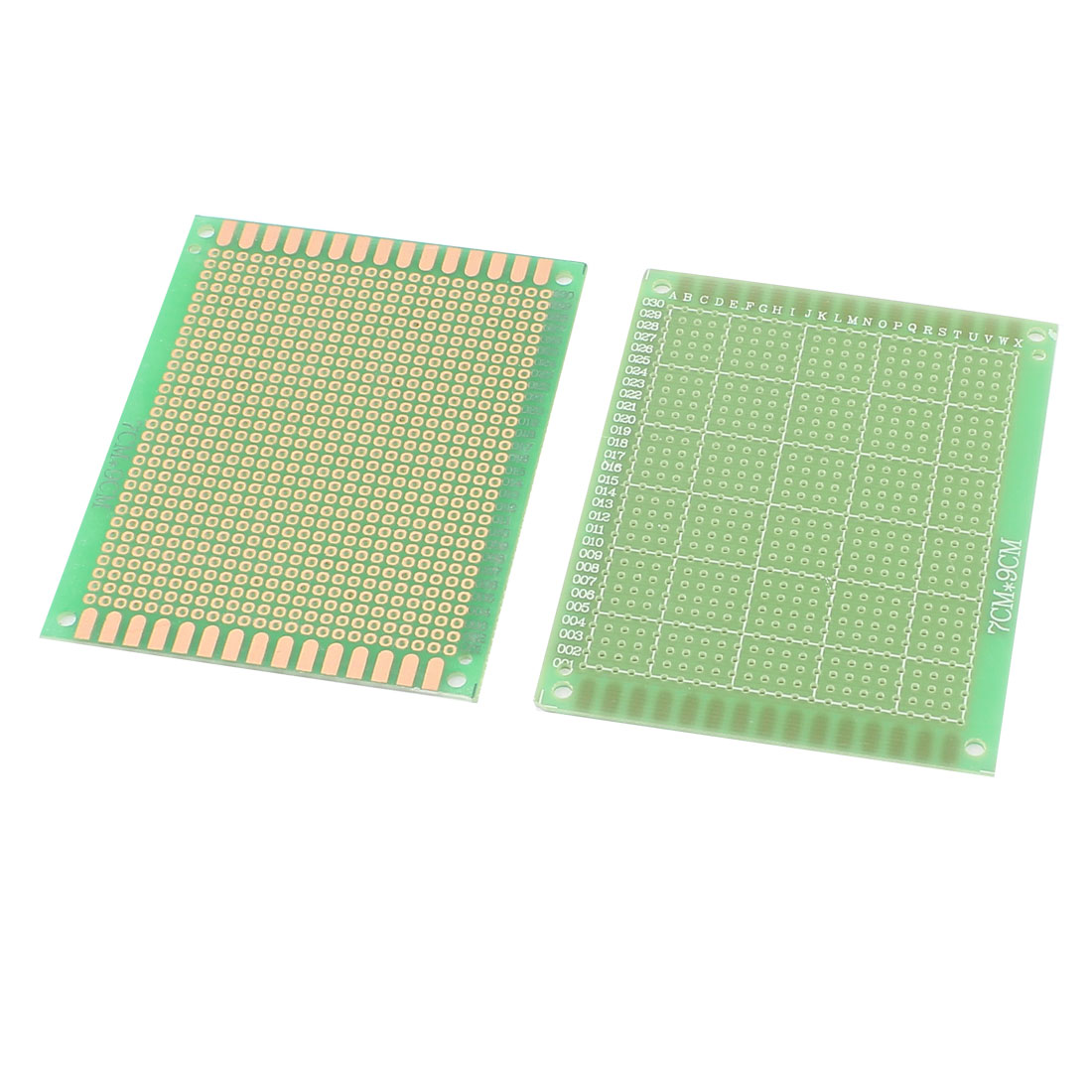 2 Pcs Double Side Prototype Solderable Universal PCB Board 7x9cm