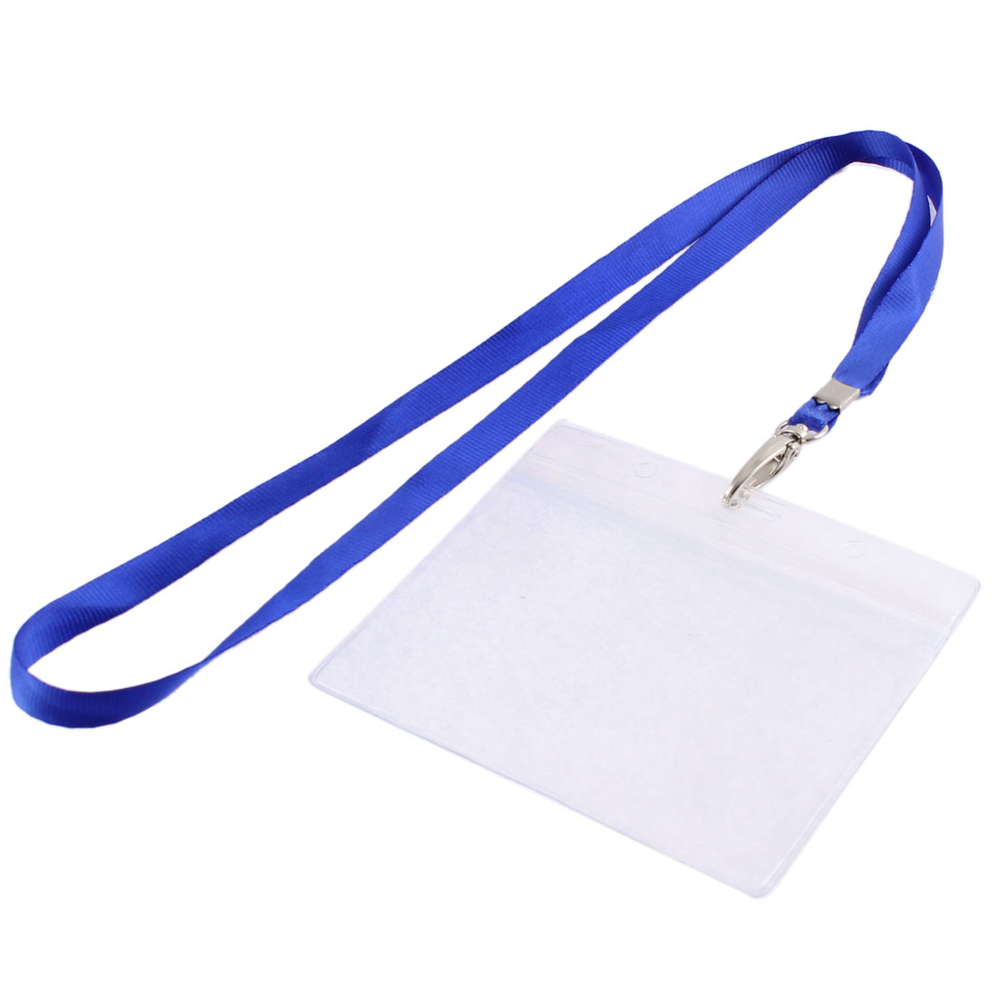 Office School Nylon Neck Strap Lanyard Horizontal ID Card Badge Holder 103mm x 65mm