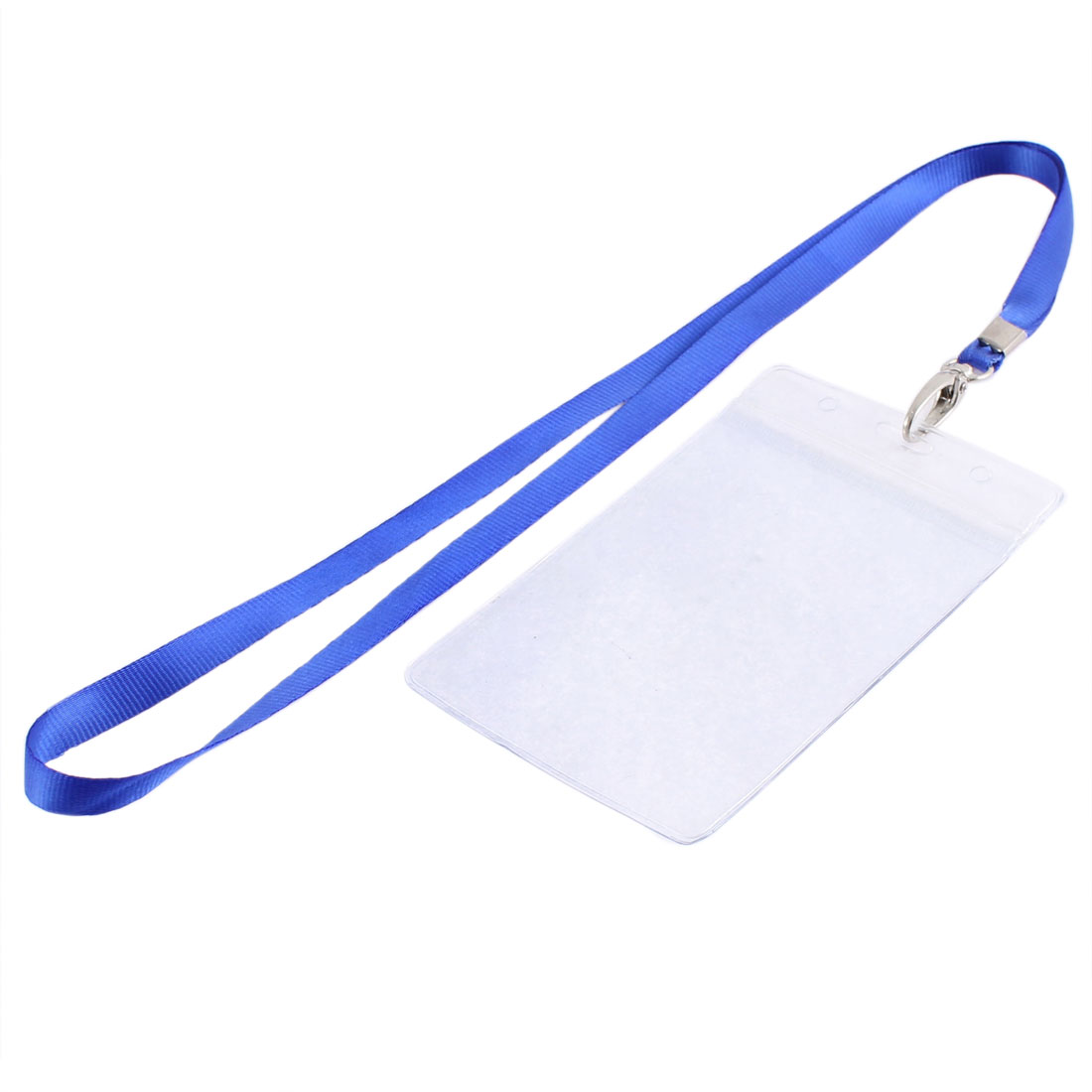Office School Nylon Neck Strap Lanyard Vertical ID Card Badge Holder 102mm x 70mm