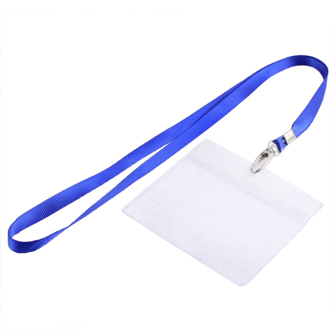 Office School Nylon Neck Strap Lanyard Horizontal ID Card Badge Holder 94mm x 60mm