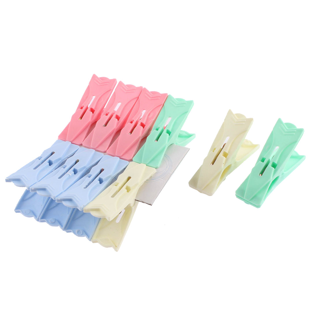 Socks Clothes Hanging Plastic Pins Clips Clamps 65mm Length Assorted Color 10 Pcs