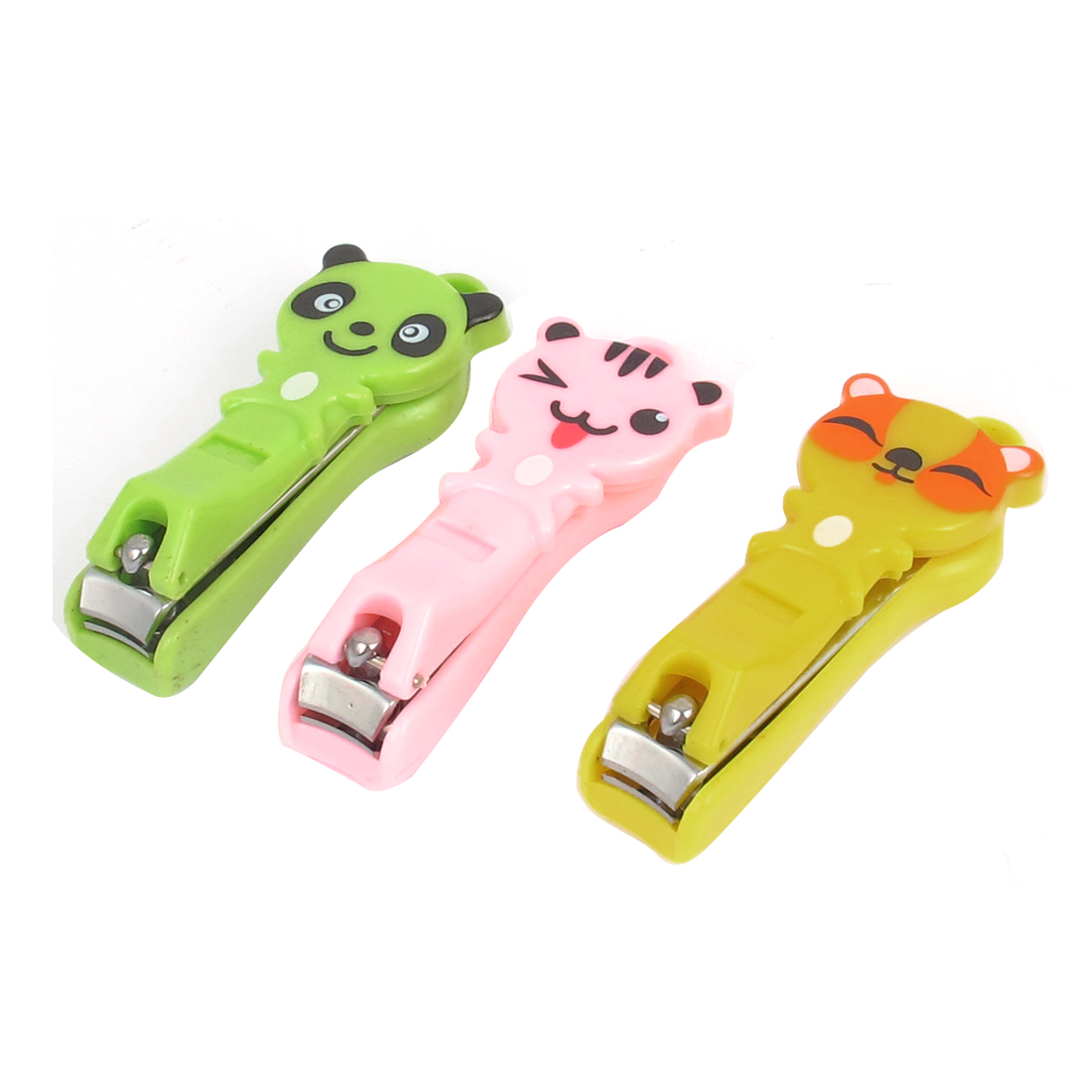 Animal Pattern Manicure Pedicure Fingernail Toenail Clipper Cutter 3pcs