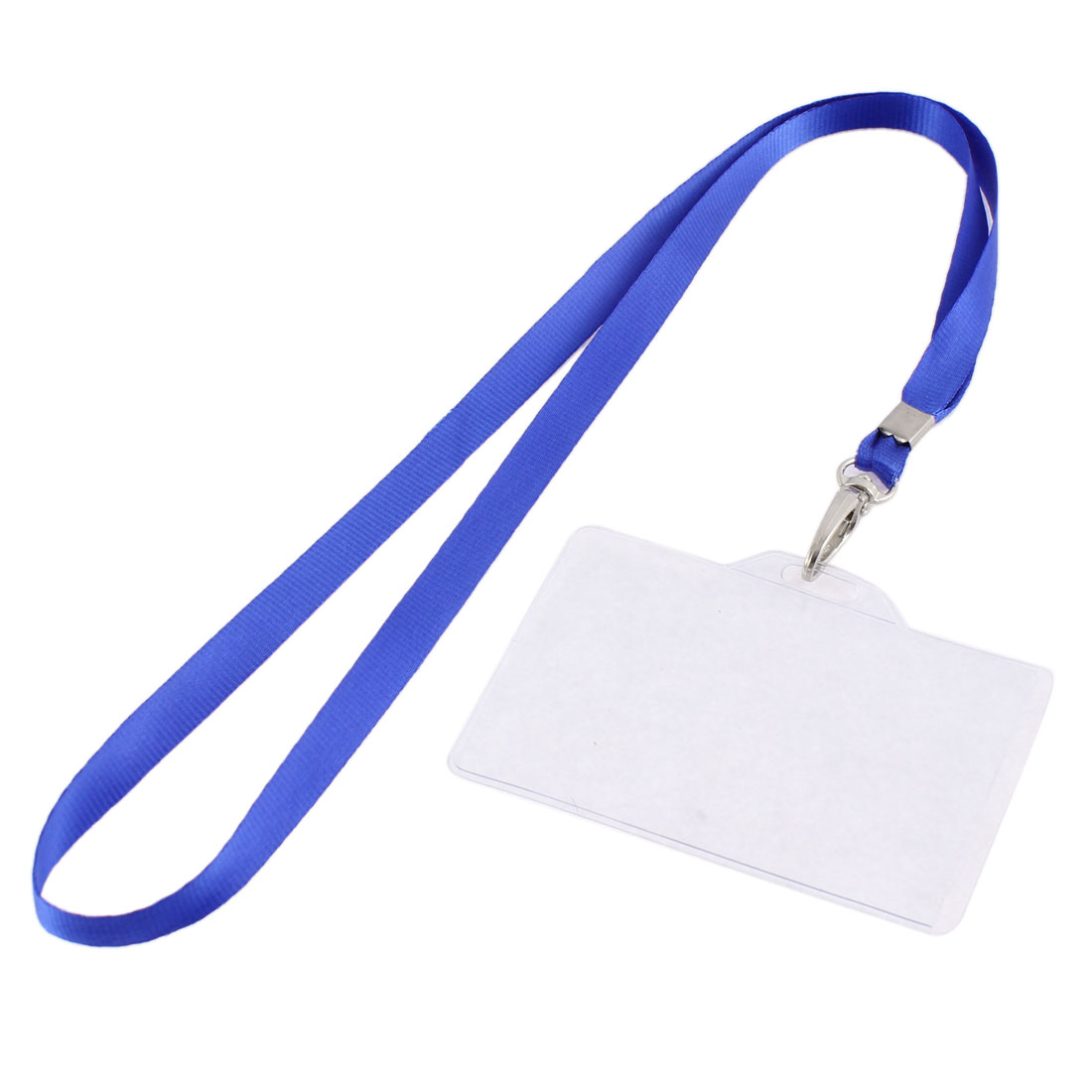 Office School Nylon Neck Strap Lanyard Horizontal ID Card Badge Holder 87mm x 53mm