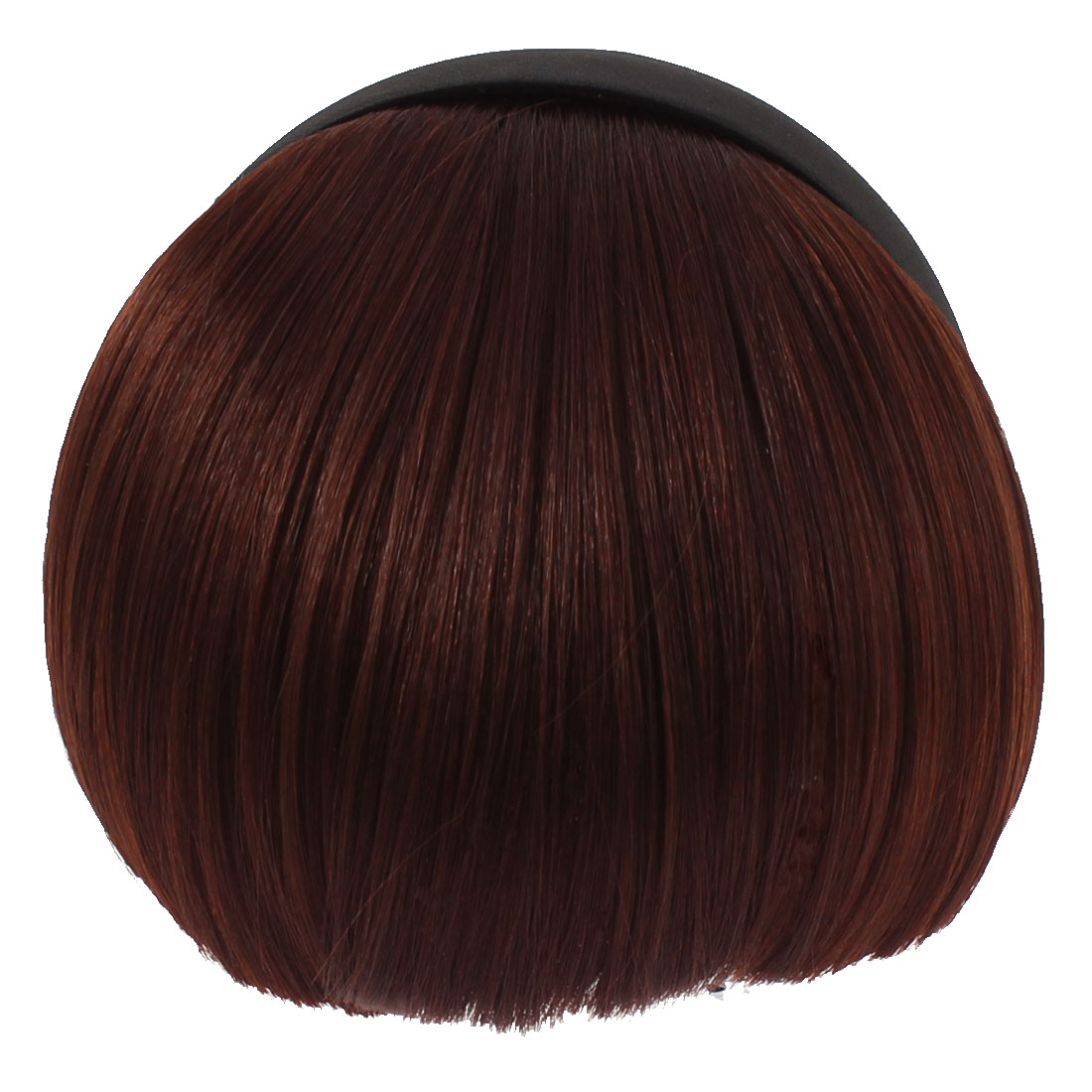 Invisible Traceless Neat Extension False Bangs Wig Piece Hair Clasp Burgundy