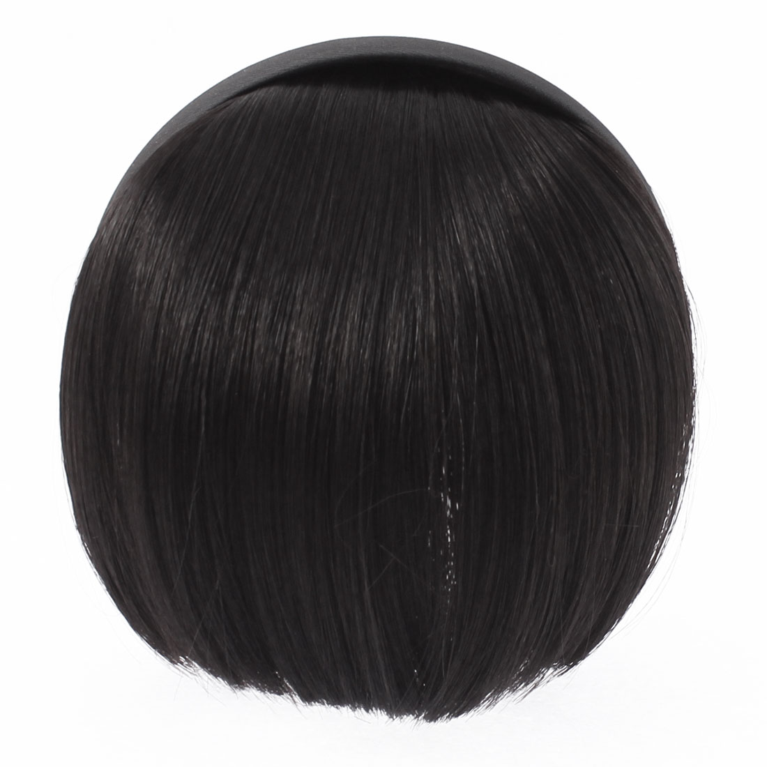 Invisible Traceless Neat Extension False Bangs Wig Piece Hair Clasp Black