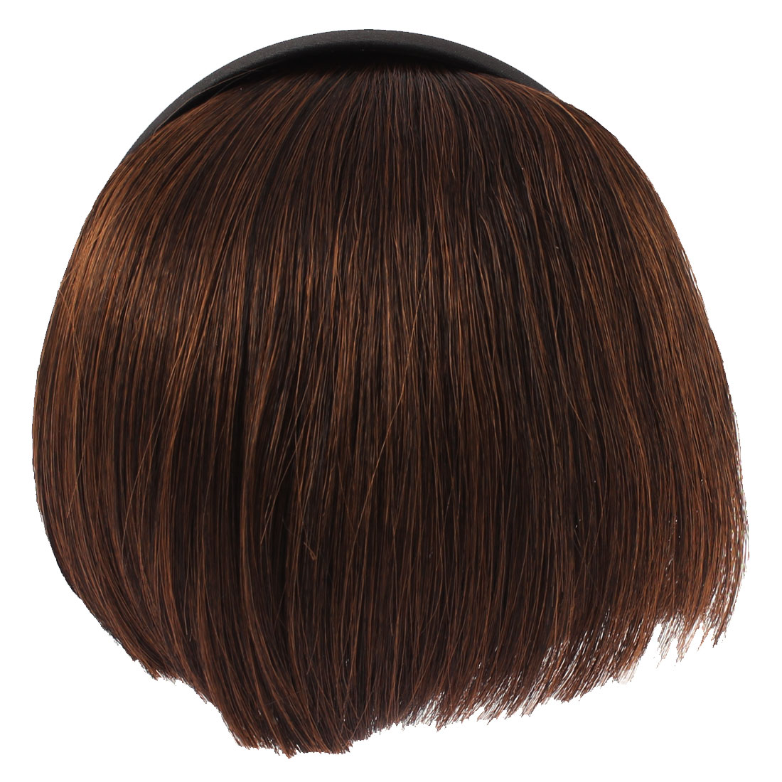 Invisible Traceless Neat Extension False Bangs Wig Piece Hair Clasp Coffee Color