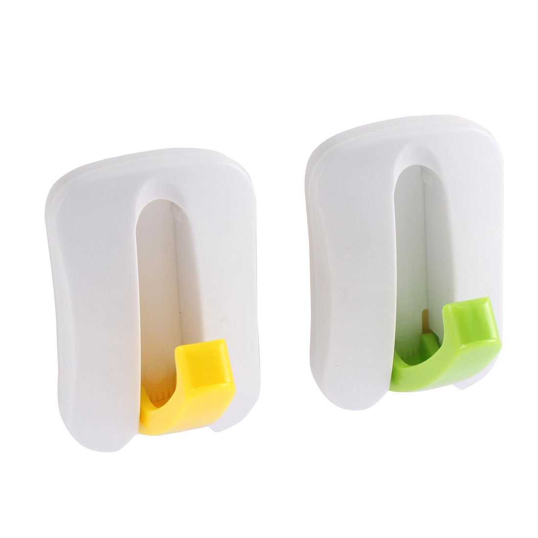 Home Kitchen Plastic Wall Door Hidden Adhesive Sticky Hook Hanger Holder 2pcs