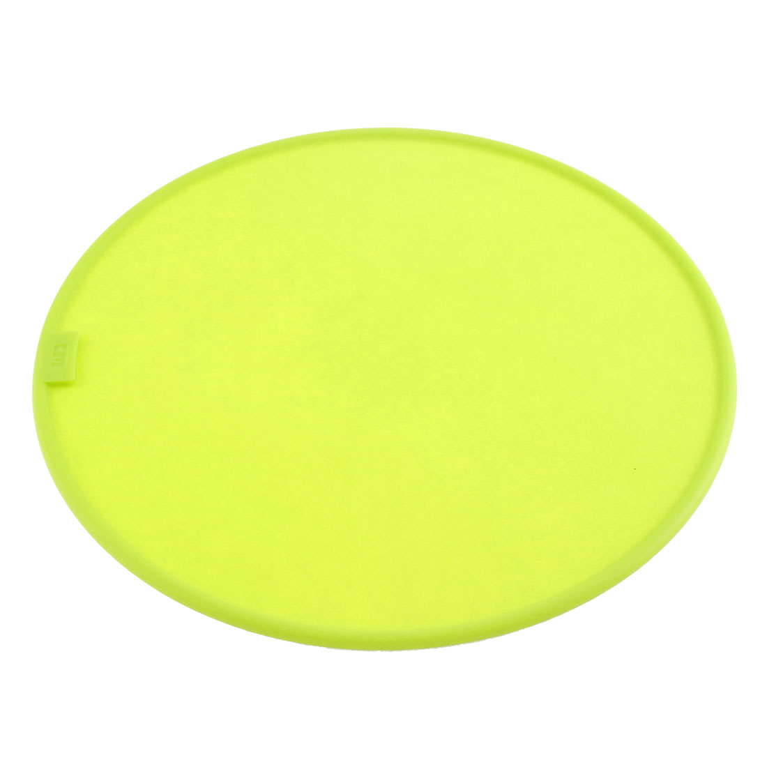Kitchen Silicone Round Shaped Pot Pan Plate Heat Resistant Mat Pad Green Yellow