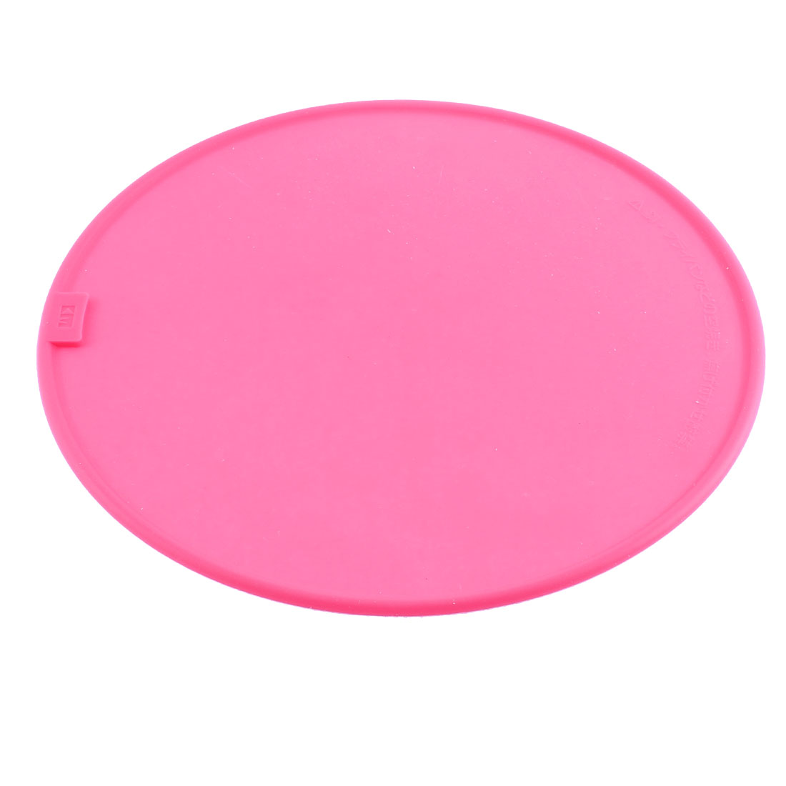 Kitchen Silicone Round Shaped Pot Pan Plate Heat Resistant Mat Pad Fuchsia