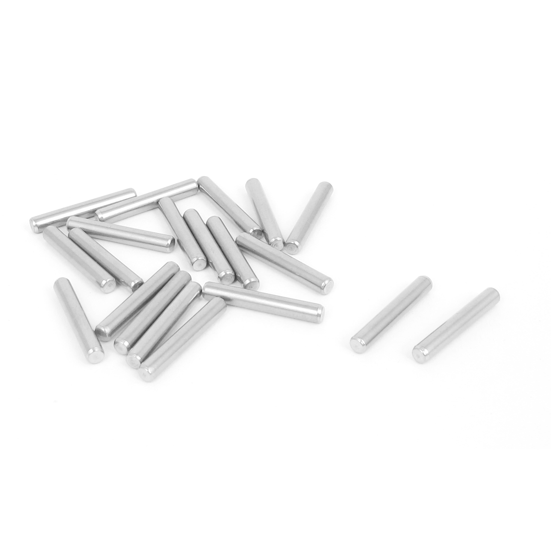 3mmx20mm 304 Stainless Steel Parallel Dowel Pins Fastener Elements 20pcs