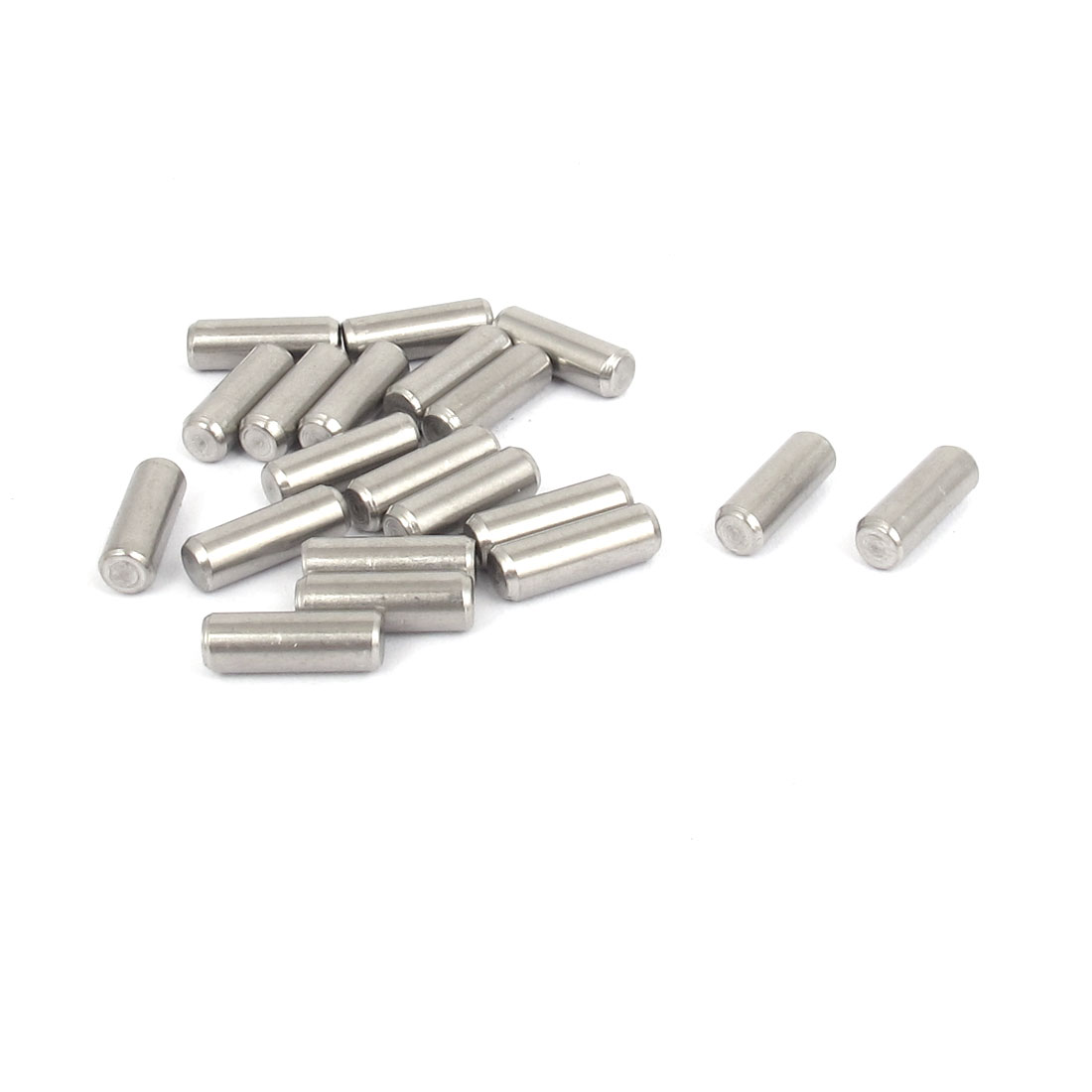 4mmx12mm 304 Stainless Steel Parallel Dowel Pins Fastener Elements 20pcs