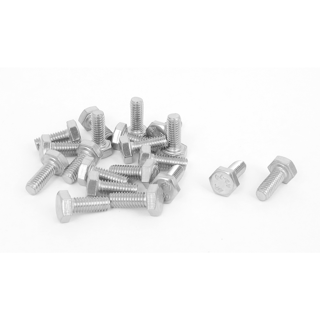 M4x10mm Thread 304 Stainless Steel Hex Hexagon Head Screw Bolt 20pcs