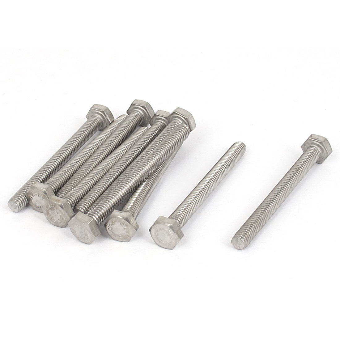 M4x40mm Thread 304 Stainless Steel Hex Hexagon Head Screw Bolt 10pcs