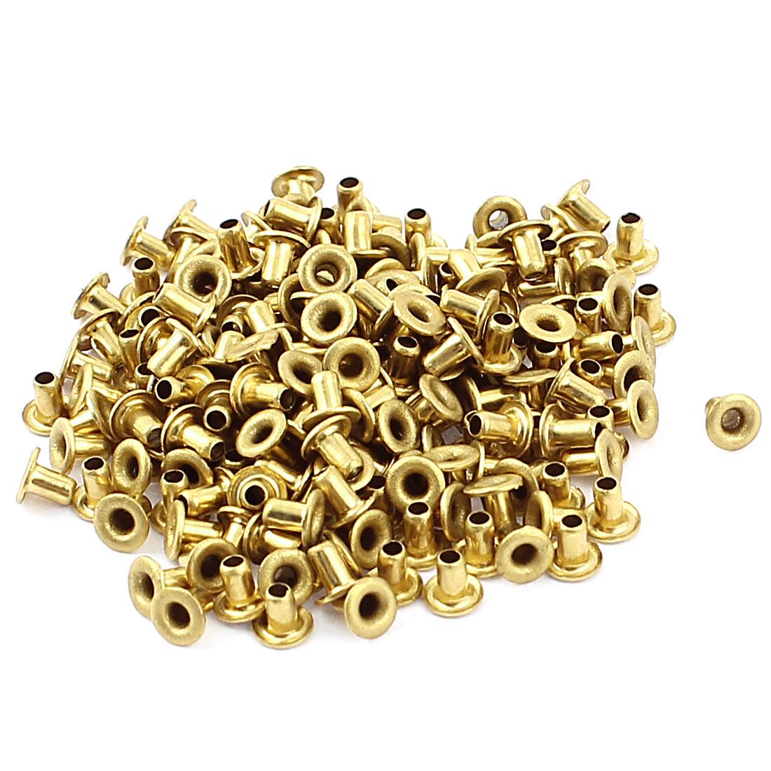 200 Pcs M2*3 copper Tone Eyelet Buttonhole rivet Retainer Ring Button Buckle