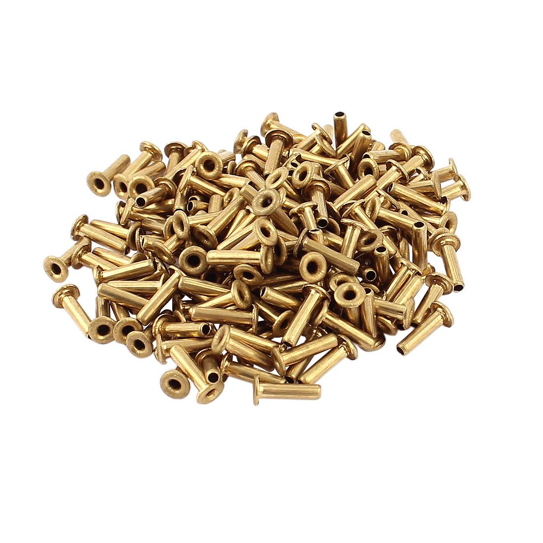 200 Pcs M2*8 copper Tone Eyelet Buttonhole rivet Retainer Ring Button Buckle