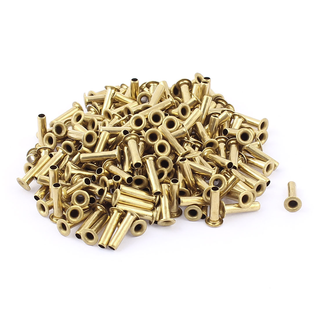 200 Pcs M3*12 copper Tone Eyelet Buttonhole rivet Retainer Ring Button Buckle