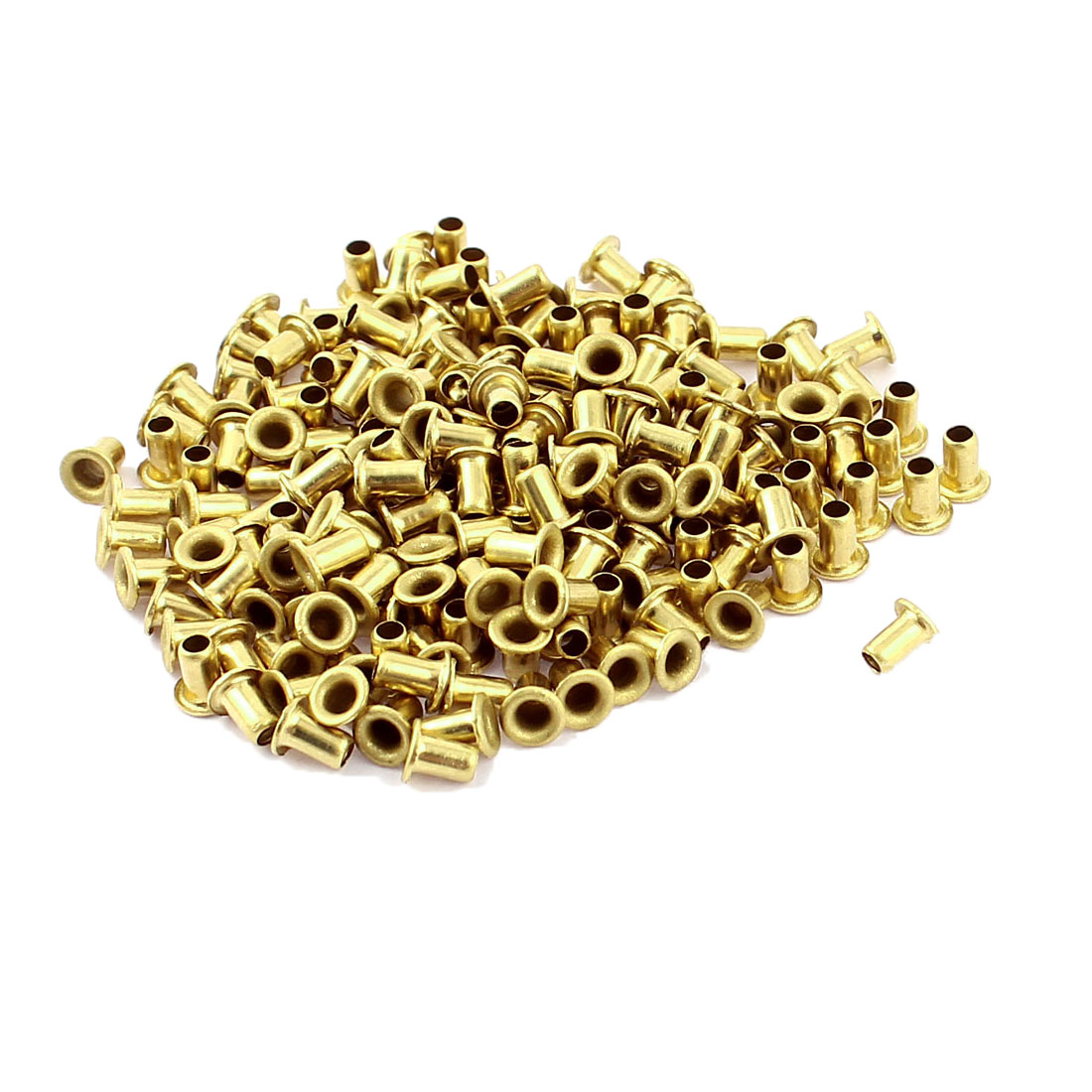 200 Pcs M2.5*4 copper Tone Eyelet Buttonhole rivet Retainer Ring Button Buckle