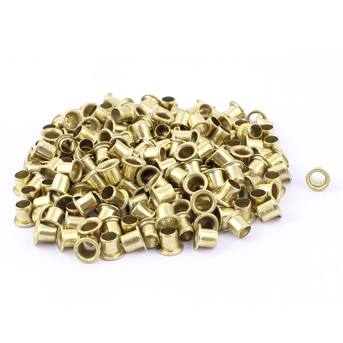 200pcs M5x5 Copper Via Vias Plated Through Hole Rivets Hollow Grommets PCB Circuit Board