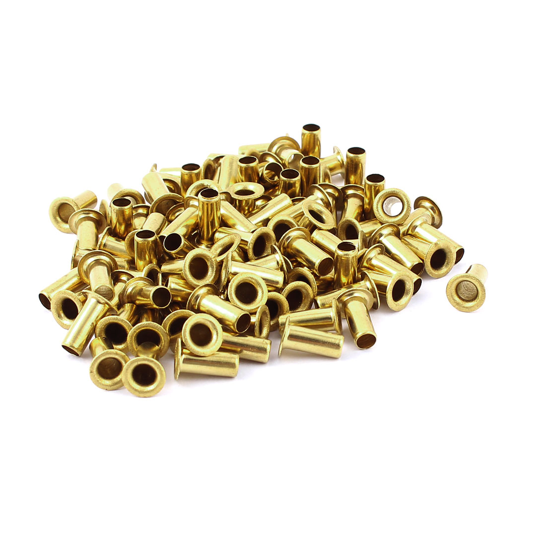 100pcs M5x12 Copper Via Vias Plated Through Hole Rivets Hollow Grommets PCB Circuit Board