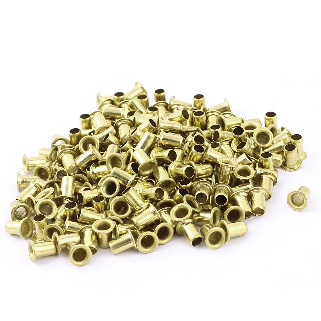 200pcs M4x6 Copper Via Vias Plated Through Hole Rivets Hollow Grommets PCB Circuit Board