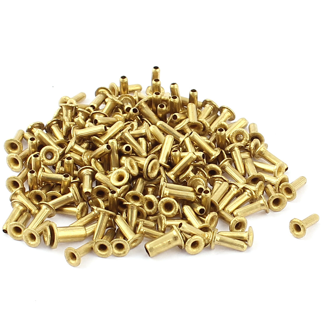 200 Pcs M1.5*5 copper Tone Eyelet Buttonhole rivet Retainer Ring Button Buckle
