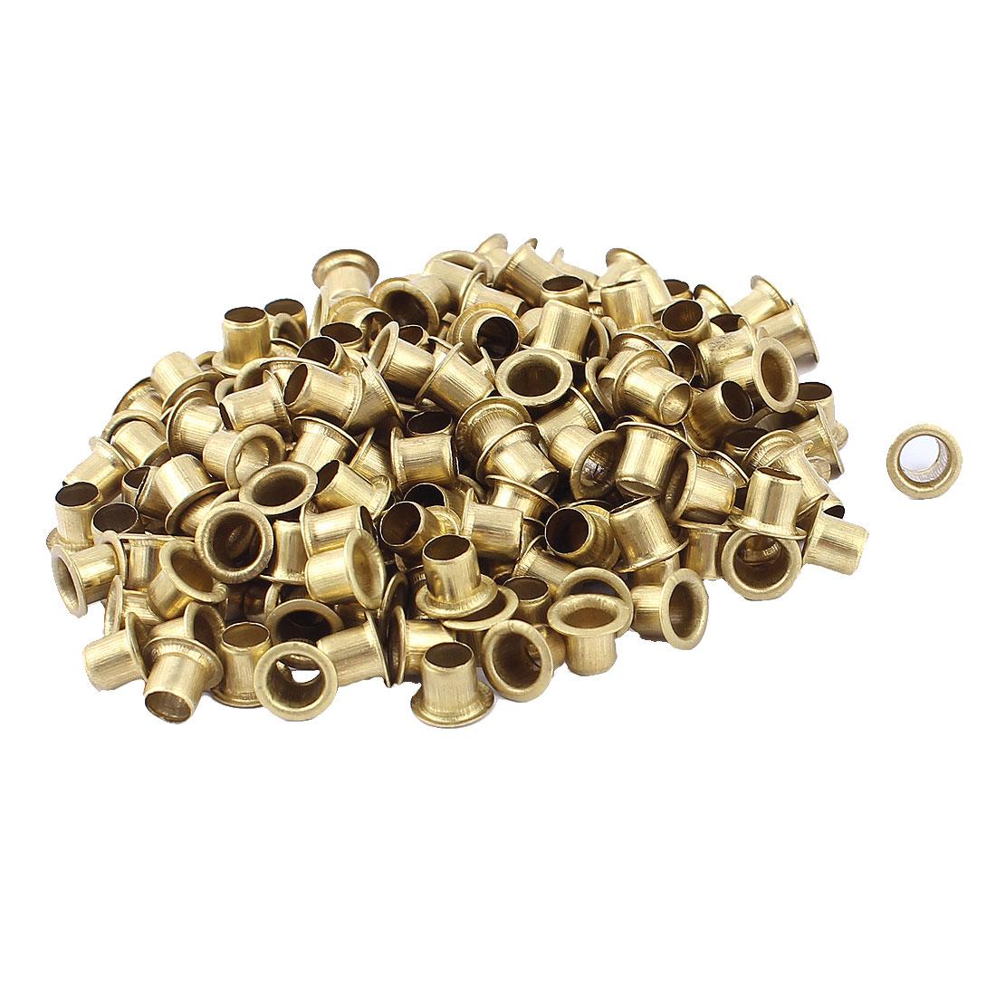 200pcs M6x6 Copper Via Vias Plated Through Hole Rivets Hollow Grommets PCB Circuit Board