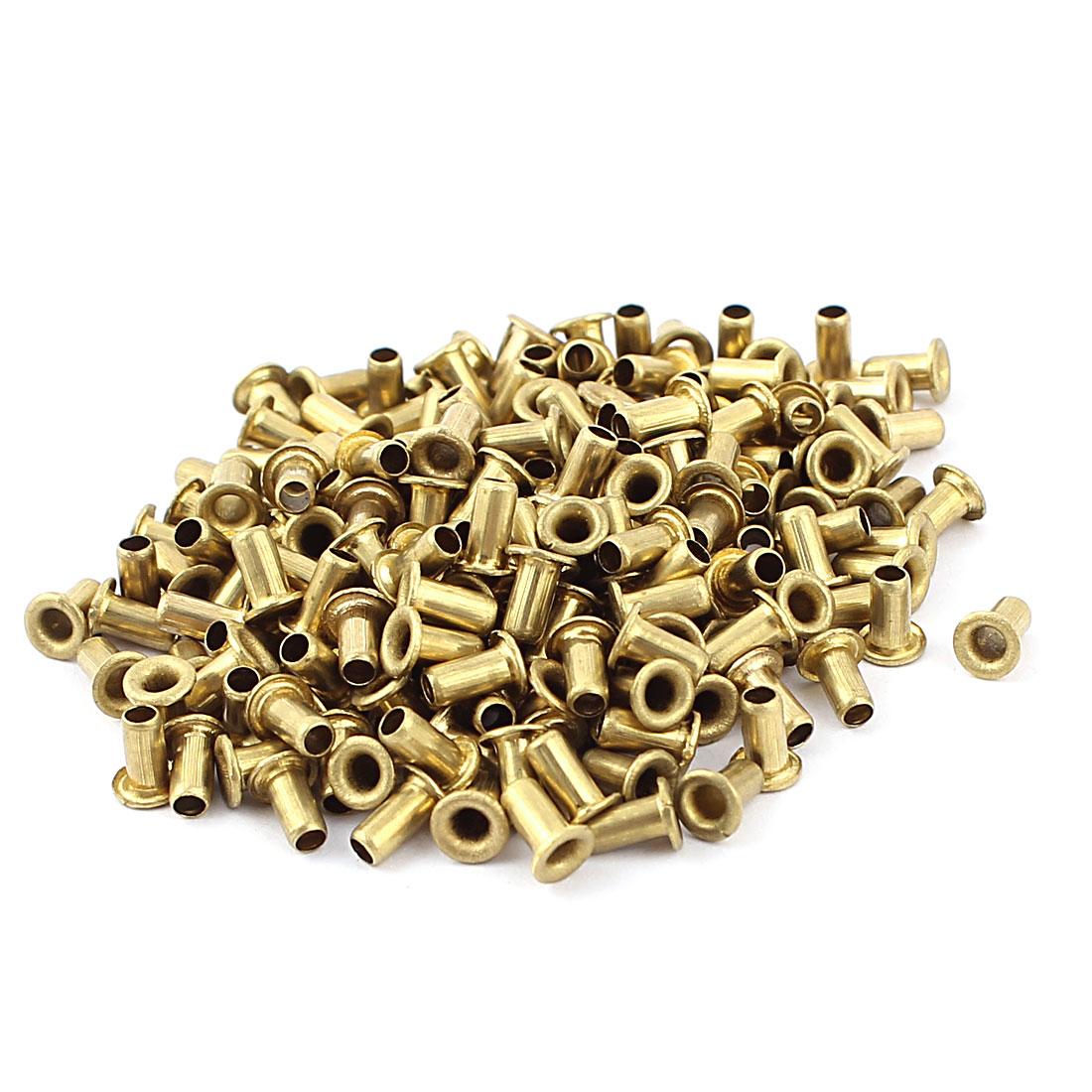 200pcs M2.5x5 Copper Via Vias Plated Through Hole Rivets Hollow Grommets PCB Circuit Board