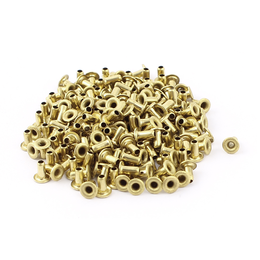 200pcs M2x4 Copper Via Vias Plated Through Hole Rivets Hollow Grommets PCB Circuit Board