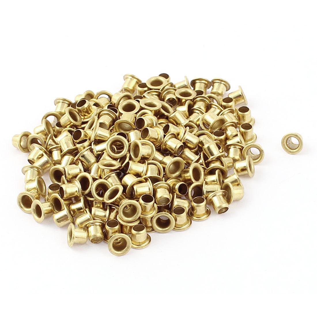 200 Pcs M4*4 copper Tone Eyelet Buttonhole rivet Retainer Ring Button Buckle