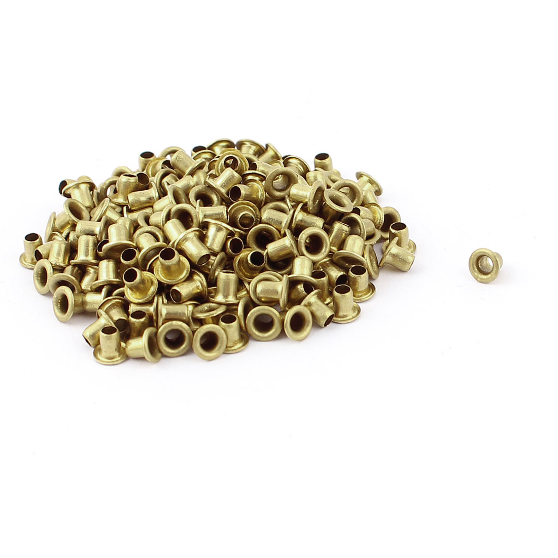 200pcs M2.5x3 Copper Via Vias Plated Through Hole Rivets Hollow Grommets PCB Circuit Board