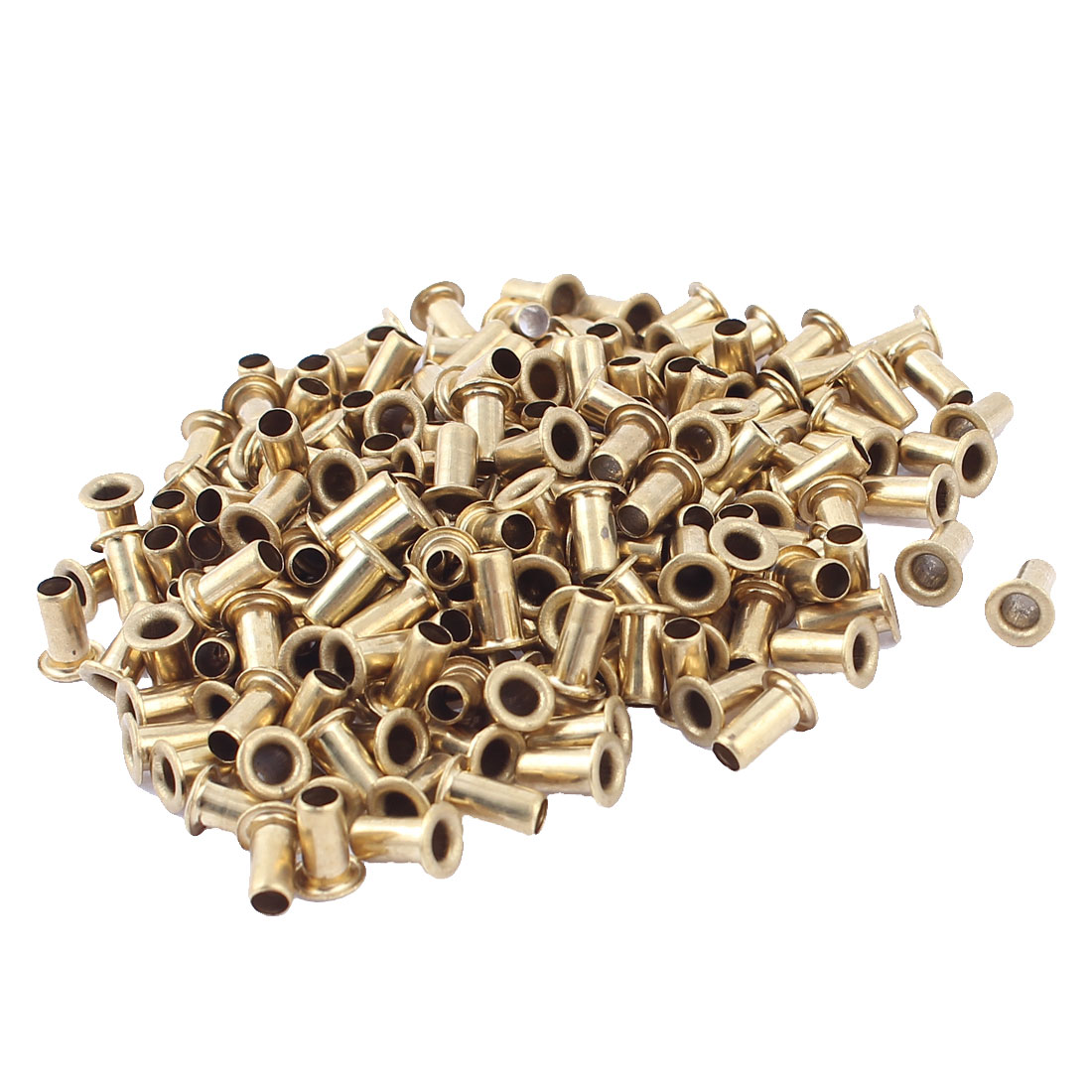 200pcs M4x8 Copper Via Vias Plated Through Hole Rivets Hollow Grommets PCB Circuit Board